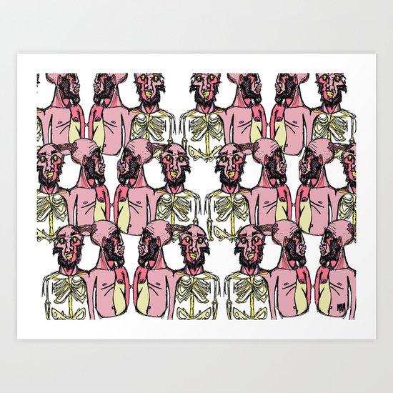 Siamese Crowd Art Print
