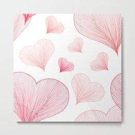 Heart Pattern 05 Metal Print