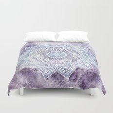 DEEP PURPLE MANDALA Duvet Cover