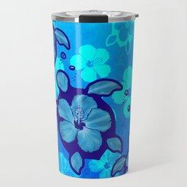 3 Blue Honu Turtles Travel Mug