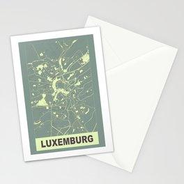Luxemburg, Luxemburg, city map, Mantle grey Stationery Cards