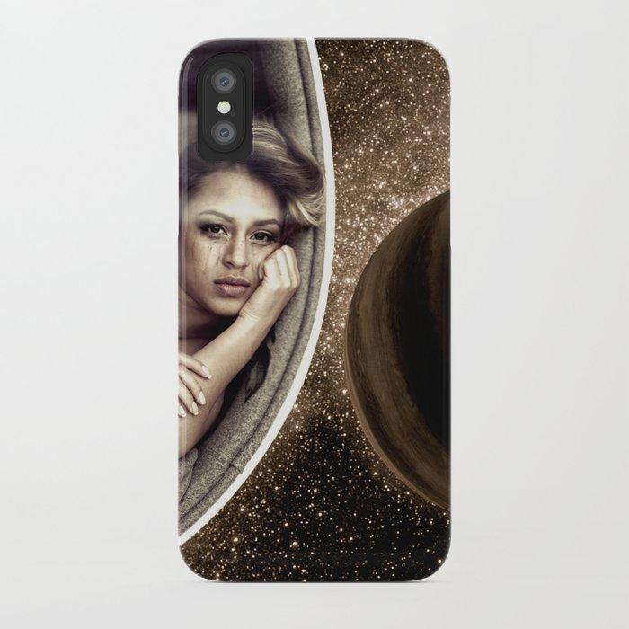 Sad walk in Space iPhone Case