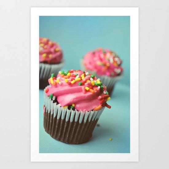 PINK CUPCAKES PHOTOGRAPH Art Print