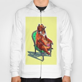 animals in chairs #20 The Bear at Tea Hoody