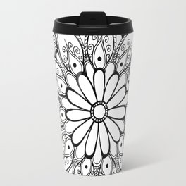 Daisy mandala Travel Mug