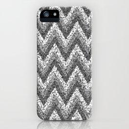 black&white zigzag iPhone Case