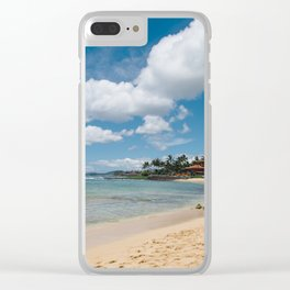 Poipu beach Clear iPhone Case