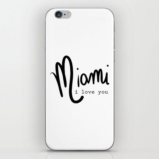 miami i love you iPhone & iPod Skin