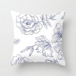 leggins flower Throw Pillow