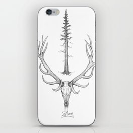 """Bull Elk & Redwood"" iPhone Skin"
