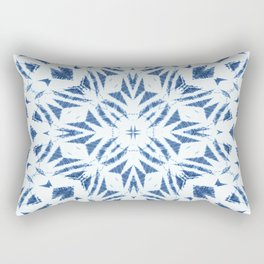 Arrowhead Denim White Rectangular Pillow