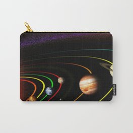 Solar System, the Sun, Planets, & Kuiper Belt by Image Editor Carry-All Pouch