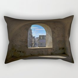 Puerto Rico window from the fortress Rectangular Pillow