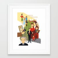 twin peaks Framed Art Prints featuring Twin Peaks by Collectif PinUp!