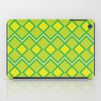 lime green iPad Cases featuring Green Lime Square Pattern by FlowerPot