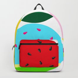 Watermelon in Fours | Watermelon Seed | Watermelon Home Decor | pulps of wood Backpack