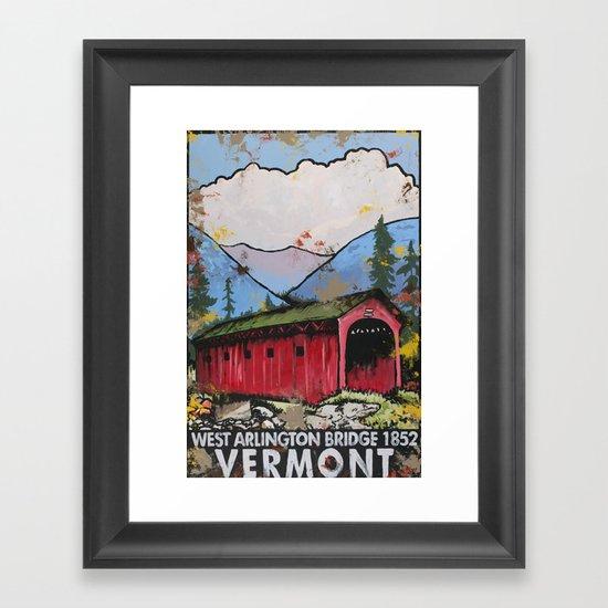 West Arlington Bridge, Arlington Vermont Benefit Print Framed Art Print