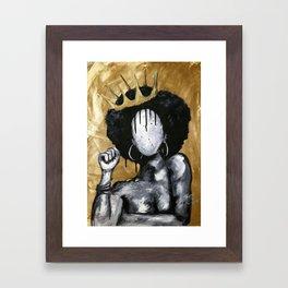 Naturally Queen GOLD Framed Art Print