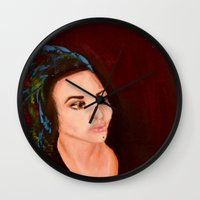 headdress Wall Clocks featuring headdress by Rory Eastman