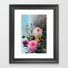 soundtrack Framed Art Print