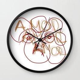 amor amor amor o desamor Wall Clock