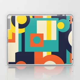 Funky Geometry (Modern Vibrant Color Palette) Laptop & iPad Skin
