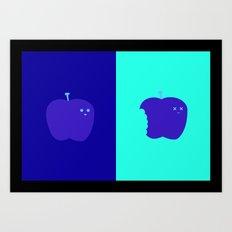 Living/Dead Apple Art Print