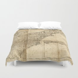 Map of the United States (1809) Duvet Cover
