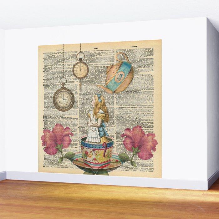 It's Always Tea Time - Alice In Wonderland Wall Mural