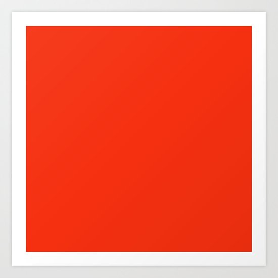 Festive Red Art Print