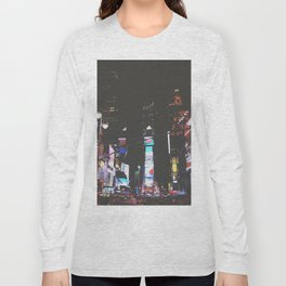 Evening Glow - Times Square Long Sleeve T-shirt
