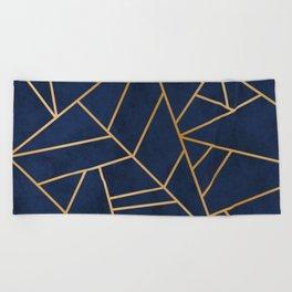 Art Deco Blue Beach Towel