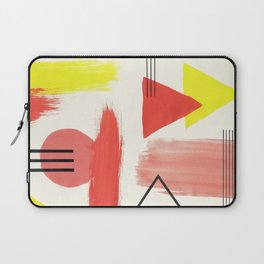 Abstract Composition in Peach and Yellow Laptop Sleeve