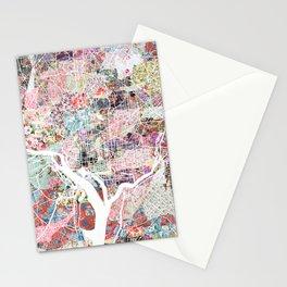 Washington map flowers Stationery Cards