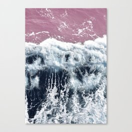 Aerial View, Blue Waves Canvas Print