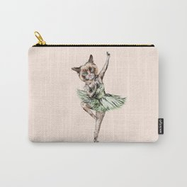 Siamese Ballerina in Cat Ballet  Carry-All Pouch