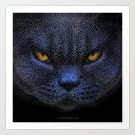 Very Cross Cat Art Print