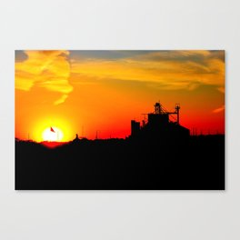 kansas sunset Canvas Print