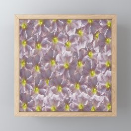 Taupe Grey Floral Framed Mini Art Print