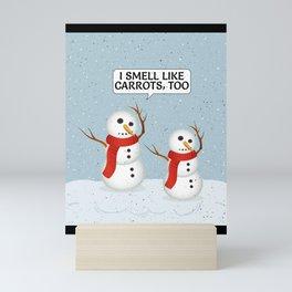 Snowmen Doll for Snowmen Lover Mini Art Print