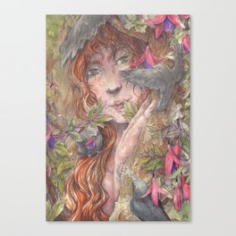 Forest Lady Canvas Print