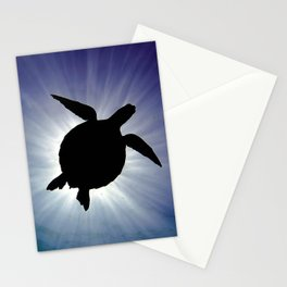 Sea Turtle Eclipse Stationery Cards