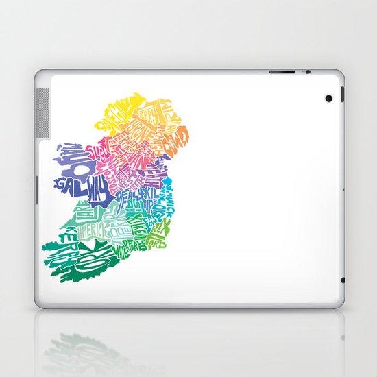 Typographic Ireland Laptop & iPad Skin