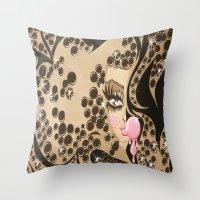 blondie Throw Pillows featuring Blondie by Artist_Fran_Doll