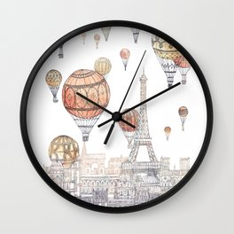 Voyages Over Paris ~ Refresh Wall Clock