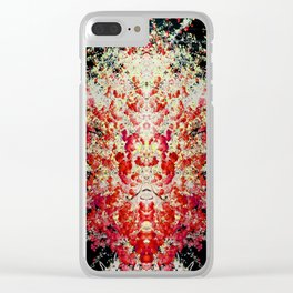 Neon Mirrored Trees 2 Clear iPhone Case