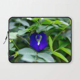 Blue Flower Laptop Sleeve