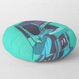 Polybius Arcade Game Machine Cabinet - Isometric Green Floor Pillow