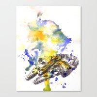 millenium falcon Canvas Prints featuring Star Wars Millenium Falcon  by idillard