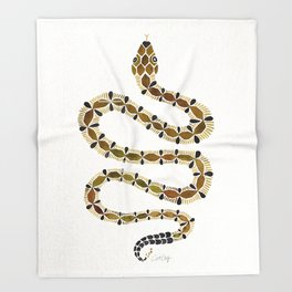 Olive Serpent Throw Blanket